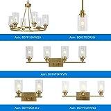 3 Lights MELUCEE Sconces Wall Lighting Brass