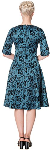Tealfarben Days Katzen Sia Damen Dress Swing Schwarz Dancing Kleid Bella aqH8xawd