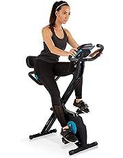 Klarfit Azura Plus Vélo d'exercice 3-en-1 - Fitness Bike, Cardio Training, Entraînement par Courroie, Pulsomètre, 8 Niveaux de résistance magnétique
