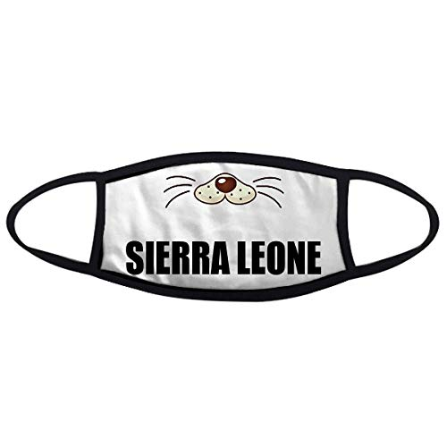 - Sierra Leone Country Name Mask Mouth Anti-dust Cold Warmer Dog Noise Mouth Face