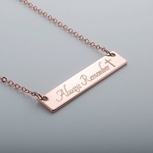 Same Day Shipping Custom Name bar necklace ❤️ Dainty Hand stamped or Machine Engraved Custom Necklace Handmade Wedding Birthday Best Graduation Day gift