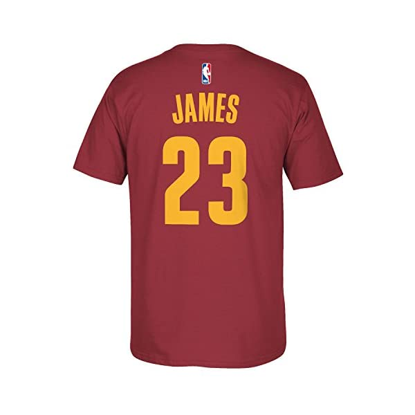 Small 8, LeBron James Outerstuff NBA Youth 8-20 Performance Game Time Team Color Player Name and Number Jersey T-Shirt