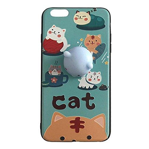 Pinzhi Pinzhi 3D Nizza weiche Silikon Pappy Squishy Katze für iphone 6 Plus 6s plus Case Octopus Telefon Fall Stil