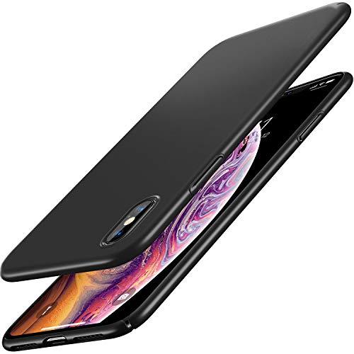 RANVOO iPhone Xs Max Case, Slim Fit Ultra Thin Hard Plastic Matte Minimalist Basic Cover Anti-Scratch Anti-Fingerprint Case iPhone Xs Max 6.5 inch (2018), Black