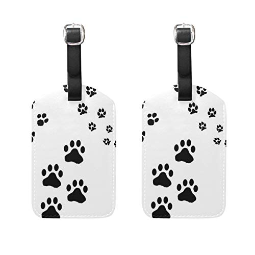 Luggage Tags Cat Paw Mens Tag Holder Kids Bag Labels Traveling Accessories Set of 2