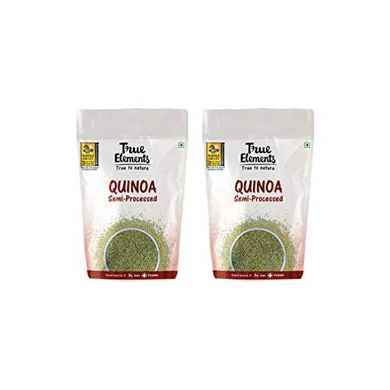 True Elements Gluten Free Semi Processed Quinoa 1kg (Quinoa 500g * 2)