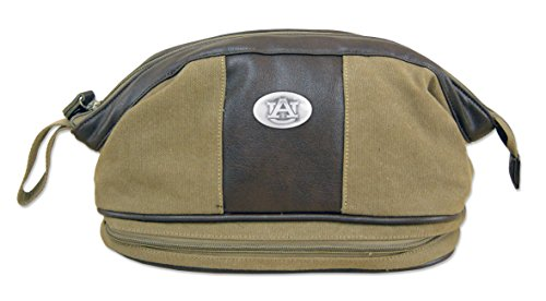 NCAA Auburn Tigers Men's Canvas Concho Toiletry Bag, Khaki, One Size