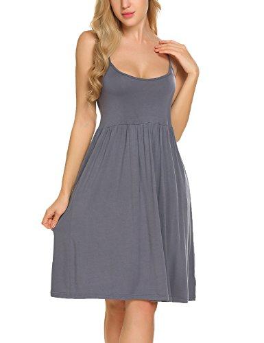 Ekouaer Tank Sleepwear Dress Sexy Nightgown Cotton Maternity Breastfeeding & Nursing Nighties for Women (Chemise Tank)