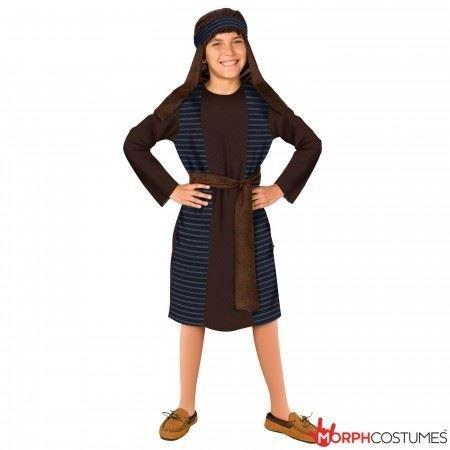 Del Costume Fancy Boy Dress (Boys Christmas Joseph Religious Fancy Dress Costume - Small)