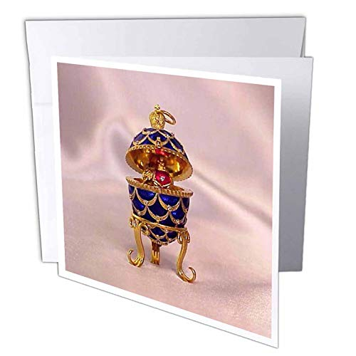 - 3dRose Picturing Pinecone Faberge Egg - Greeting Cards, 6 x 6 inches, set of 12 (gc_3148_2)