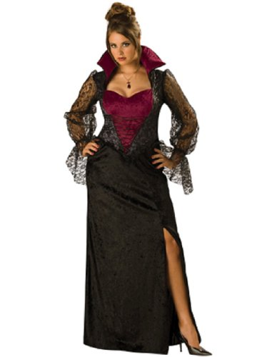 Plus Size Vampire Costumes (Midnight Vampiress Adult Costume - Plus Size 2X)