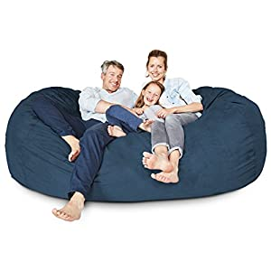 Lumaland Luxury 7-Foot Microsuede Giant Bean Bag Chair and Lounger