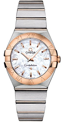 Omega Constellation Mother Of Pearl Dial Gold and Steel Ladies Watch 12320276005001