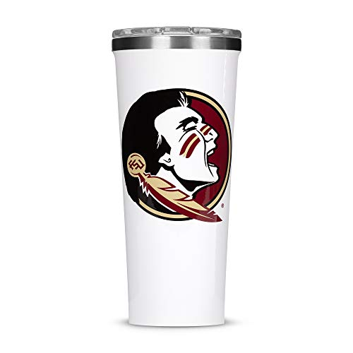 Corkcicle  Tumbler - 24oz NCAA Triple Insulated Stainless Steel Travel Mug, FSU - Florida State University Seminoles, Big Logo ()