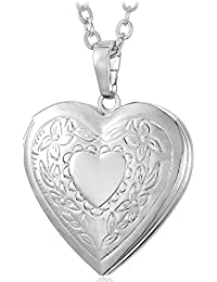 Charm Necklace Platinum/Rose Gold/18K Gold Plated Locket Pendant - With 22 Inches Chain