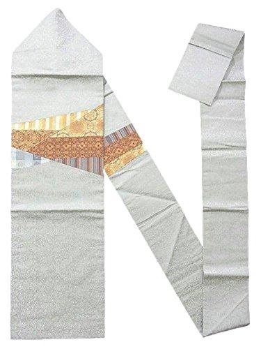 無知刈る明快リサイクル 名古屋帯  切嵌 裂取りに古典文様 正絹