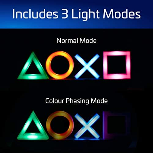 Paladone Playstation Icons Light with 3 Light Modes – Music Reactive Game Room Lighting 41xnnPFMmyL