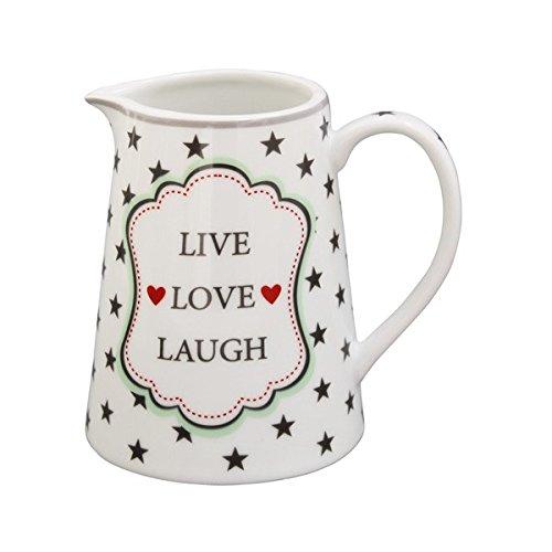 Krasilnikoff Milchkanne Live Love Laugh