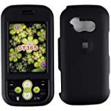 Black Rubberized Hard Protector Case for LG Neon GT365