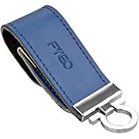 FYEO Encrypted Copy Protection USB Flash Drive Professional Edition 16GB USB 2.0 Anti Copy Anti Spy Anti Trojan Key Chain Leather USB Stick Pen Drive with AES 256-Bit Crypto (Blue)