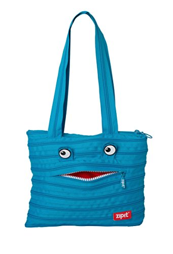 ZIPIT Monster Children Tote Bag, Turquoise Blue (Monster Can Stash compare prices)