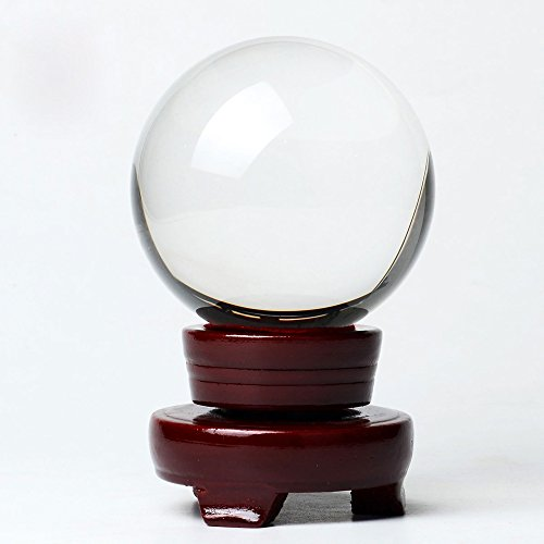 "Price comparison product image OwnMy Crystal Ball Photography Meditation Ball Contact Juggling Glass Sphere Display with Stand (60mm / 2.36"")"