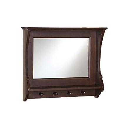 Sebastian entrada espejo de pared perchero de país francés ...
