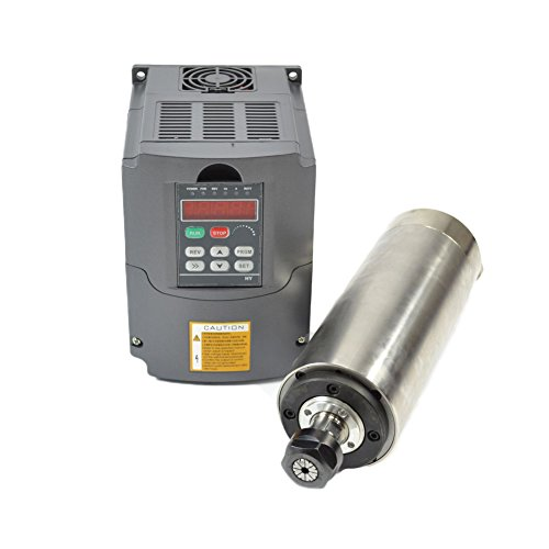 Cheap 220V 2.2KW Water Cooled Er20 CNC Spindle Motor and Matching 2.2kw Variable Frequency Drive Inverter