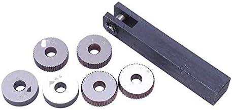 NO LOGO Rändelwerkzeug Set 7X einzelnes Rad Gerade Linear Rändelwerkzeug Set 0 5mm 1.5mm 2mm Pitch Hand-Werkzeug-Sets