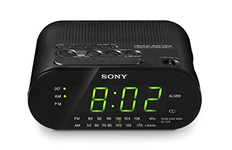 Amazon Com Sony Icfc218 Dream Machine Clock Radio Black Home