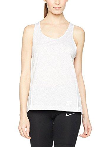 Nike Women's Bonded Tank Top, Birch Heather Black, MD