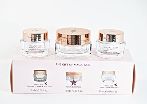 Charlotte Tilbury The Gift of Magic Skin Mini Skincare Kit - Magic Cream, Eye Rescue (Full Size) and Night Cream