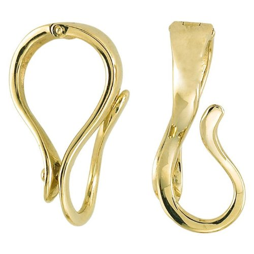 Large Interchangeable Pendant Hanger Slide Enhancer Gold Vermeil Fits 10mm Omega (Interchangeable Pendant Hanger)