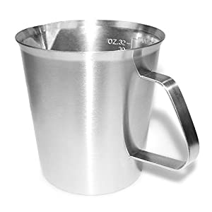 Milk Pitcher Frothing Jug - Cornasee Stainless Steel Measuring Cup Jug Perfect for Making Coffee, Flavored Milks,Latte & Cappuccino