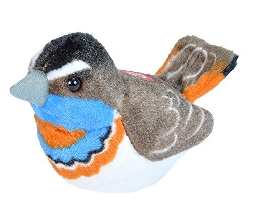 Wild Republic 19502 Birds, European Bluethroat Plush, Authentic Bird Sound, Stuffed Animal, Bird Toys, Kids Gifts, Birders 5