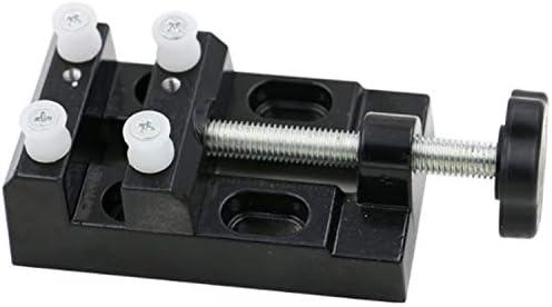 Aluminiumlegierung Mini Schraubstock Tischklemme Zangen Olive Walnut Elektrische Mühle Clamp Bett,Einfach zu bedienen
