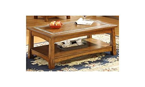 Riverside Furniture Craftsman Home Rectangle Coffee Table in Americana Oak Finish