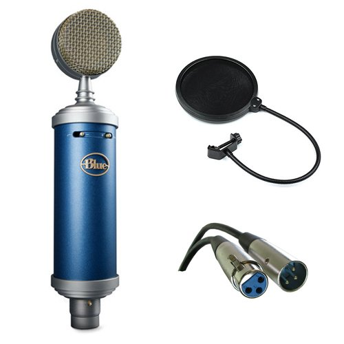 Blue Bluebird SL Large-Diaphragm Condenser Studio Microphone with XLR Cable and Pop Filter by Blue