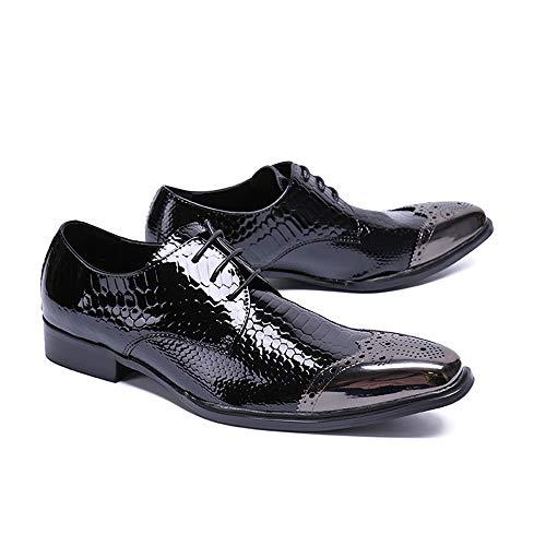 nera punta EU 1 autunno uomo Scarpe in uomo punta da da primavera da Chlyuan pelle Dimensione 39 scarpe per casual vintage 3 uomo a gnq1axYPwA