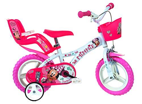 Dino Bikes 612L-NN Minnie Fiets, 12-Inch Muis, Roze