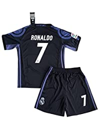 NEW 2016/2017 Ronaldo #7 Real Madrid Champions League Jersey & Shorts for Kids/Youth