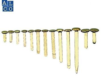 Musterbeutelklammern rundkopf  Musterbeutelklammern Rundkopf vermessingt, 2, 15mm lang, PG=100ST ...