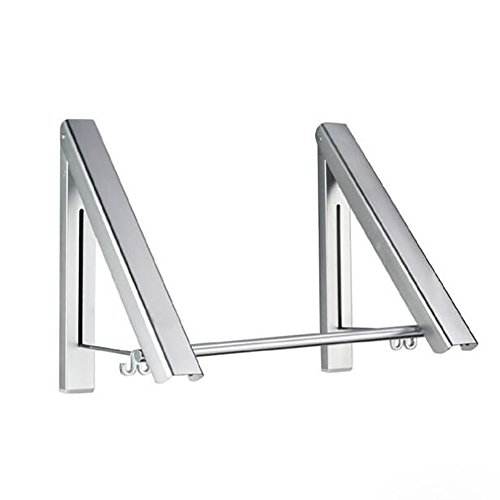 SHANGXIAN Foldable Clothes Hanger Wall Mounted Retractable D