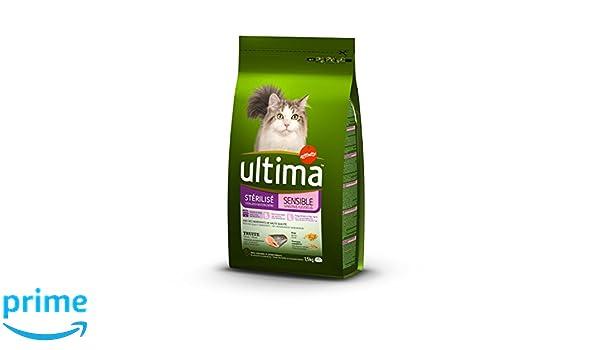 Ultima Gatos stérilisés sensibles Alimentos formulé 1,5 kg - Pack de 8: Amazon.es: Productos para mascotas