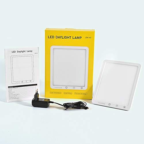 Tageslichtlampe 10000 Lux,Azhien Energy Sonnenlicht Lampe mit 3 Farbmodi,Tragbare Touch-Steuerung mit 5 Einstellbaren Helligkeiten,LED Lichtdusche für Winterdepressionen,UV-Frei,Speicherfunktion&Timer