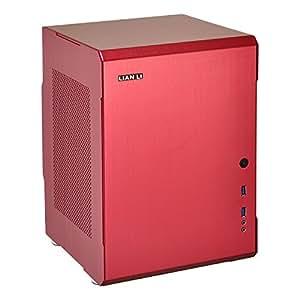 Lian Li PC-Q34 Mini-Tower Rojo - Caja de ordenador (Mini-Tower, PC, Aluminio, Fondo, ATX, Mini-DTX, Mini-ITX)