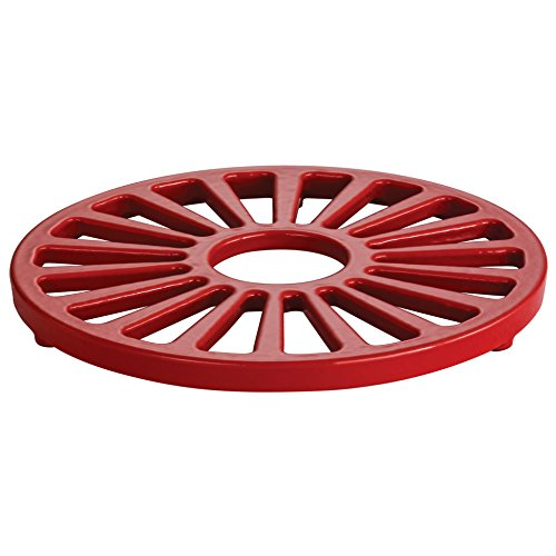 Tramontina Enameled Cast Iron Round Trivet, 7-Inch, Gradated Red (Stove Wood Enameled)