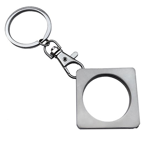 AA Medallion or Coin Holder, Metal Key Ring/Key Chain, Square