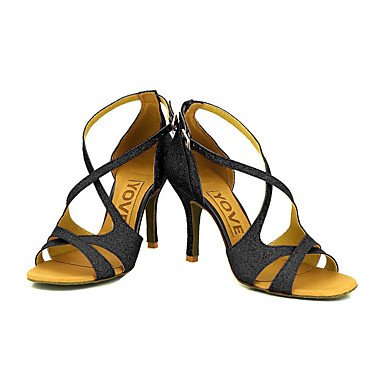 XIAMUO Anpassbare Frauen Beruf Tanz Schuhe, Silber, US 6 / EU 36/UK4/CN 36