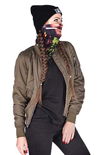 Men Women Face Shield Mask Seamless Bandana Biker Riding Outdoor MicroFiber Tube Neck Warmer (Human Face) by Guyay (Image #2)